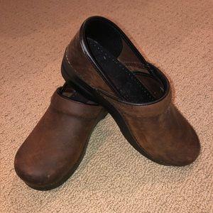 Size 8 Brown Dansko Clogs